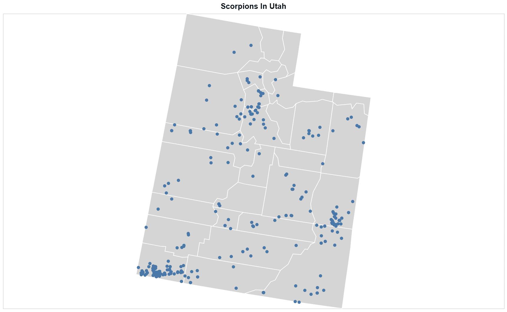 Scorpions Utah map